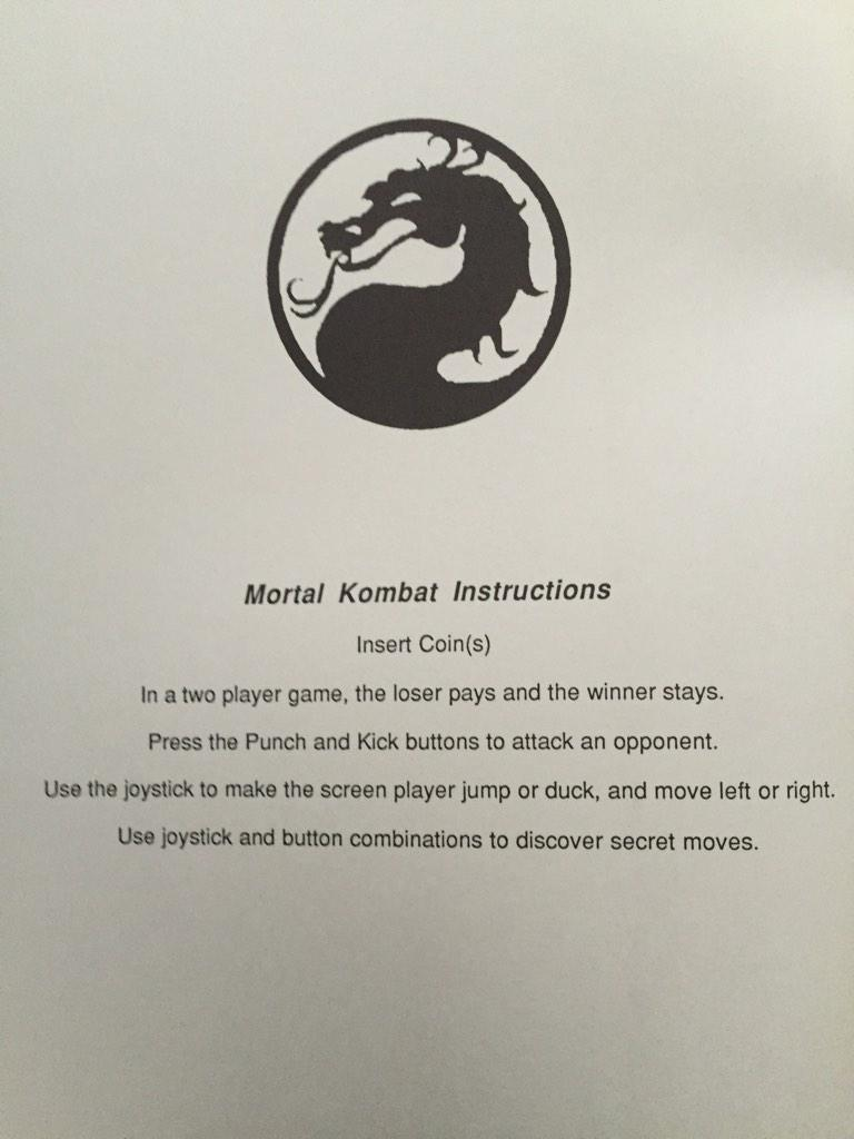 OldSkool!!! 1st Page out of The #mortalkombat arcade game manual... http://t.co/pFRoOQijwC