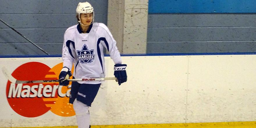 William Nylander has joined the @TorontoMarlies for practice today! (photo via @dalter) #TMLtalk http://t.co/yfpLmbs7C3