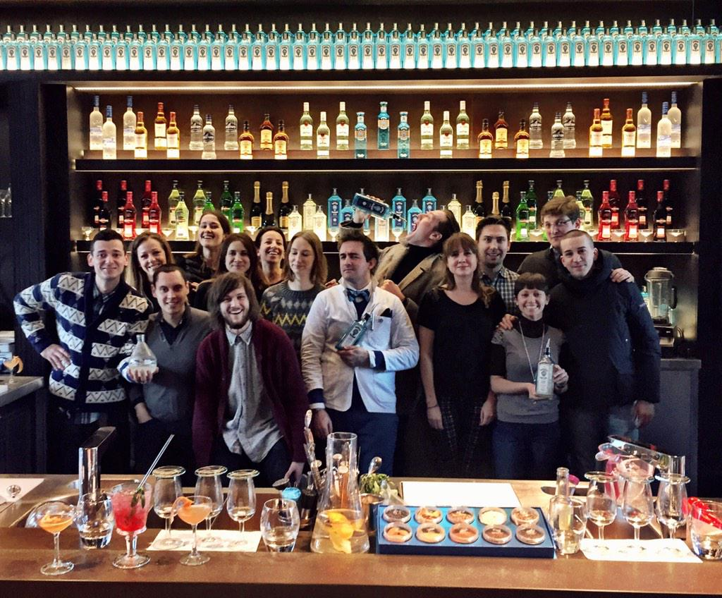 A huge thanks to @homeofbombay for educating and lubricating our team before heading off to the staff party. http://t.co/glAQAl8mrE
