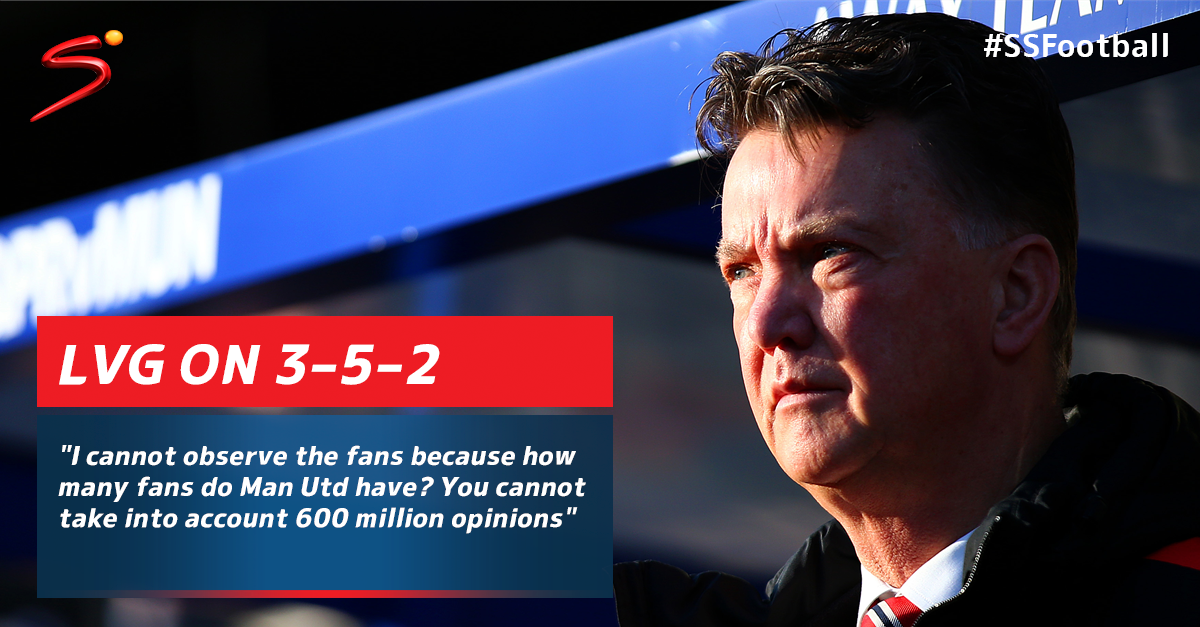 MNF: LVG's thoughts on the much debated 3-5-2 for Man United. Which formation do you think is best? #SSFootball http://t.co/otSnKu83eK