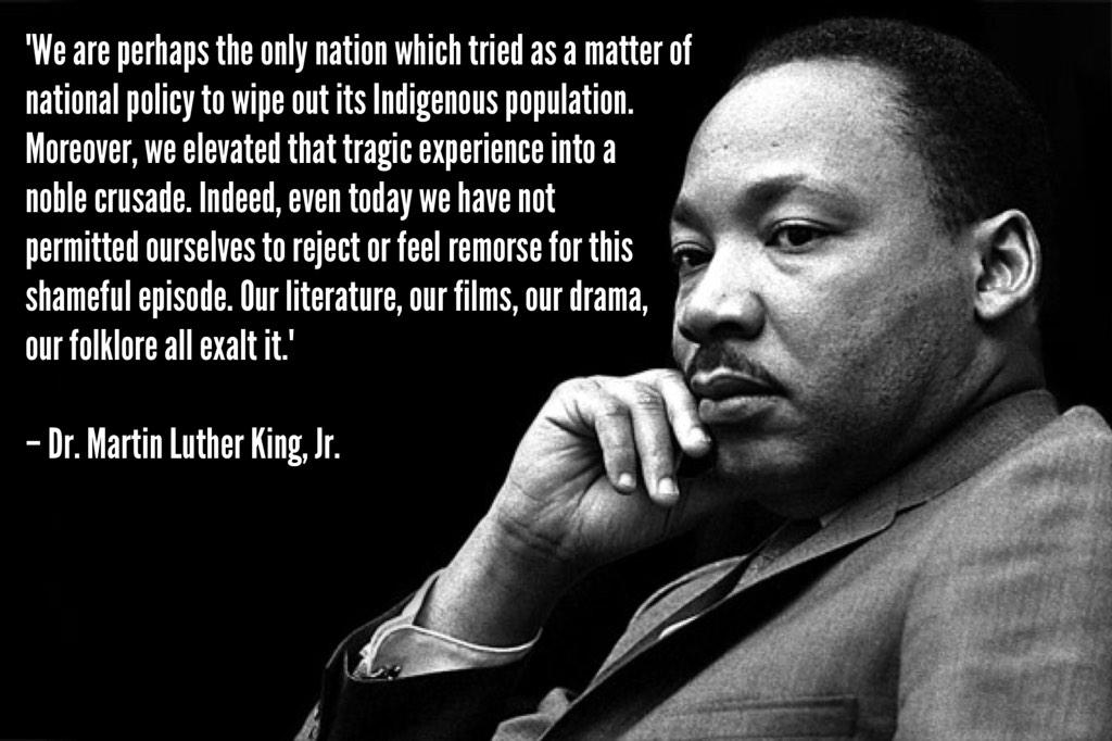 MLK. He knows what's up. #indigenous #equalrights #equality #civilrights #fightforyourrights http://t.co/AMT983yVIY