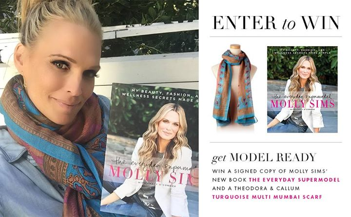 Enter to WIN a signed copy @MollyBSims' #theeverydaysupermodel & our Turquoise Mumbai Scarf: http://t.co/ZSsvYniFnK http://t.co/ZfrEXGvb6F