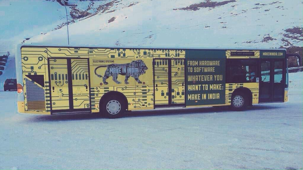 While the libtards/media is busy with kejri drama,  @narendramodi has taken @makeinindia_  campaign to Davos. http://t.co/4XesE9v3Jk
