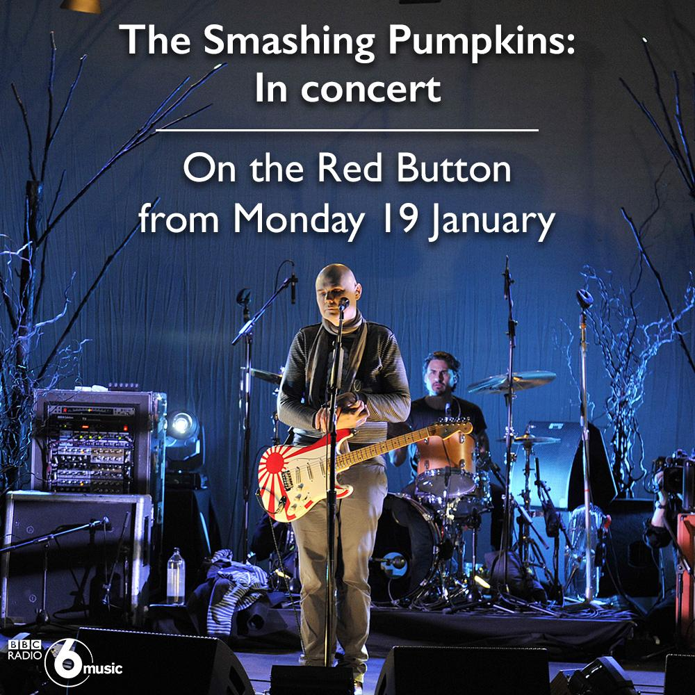 RT @BBC6Music: Don't forget you can watch @smashingpumpkin's exclusive #6musicinconcert December set anytime on @bbcredbutton. http://t.co/1zWQ8wmASF