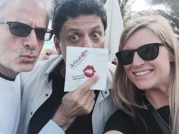 Share a selfie with the napkin and tag it #def6video #NATPE2015. Find these three: @RobKOrtiz @Fradice @shan10uga! http://t.co/qTrdjvVPDg