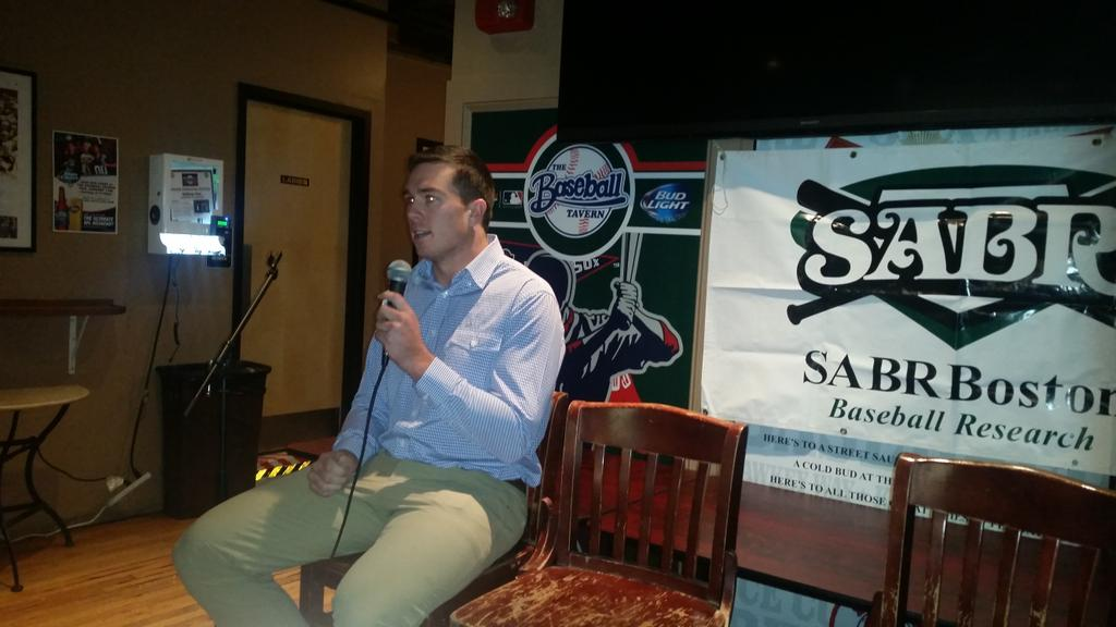 Ryan O'Rourke at SABR meeting. Local guy, AAA in Twins system. Definitely rooting for him after hearing him talk. http://t.co/7UQ7renGZJ