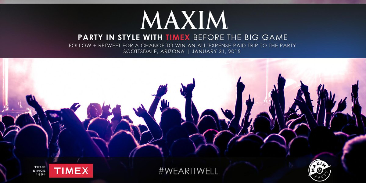 Join us and @MaximMag before the #BigGame! RT for chance to #MaximParty w/ all expenses paid! http://t.co/JH9McTITOc http://t.co/SdlSpj3vcb