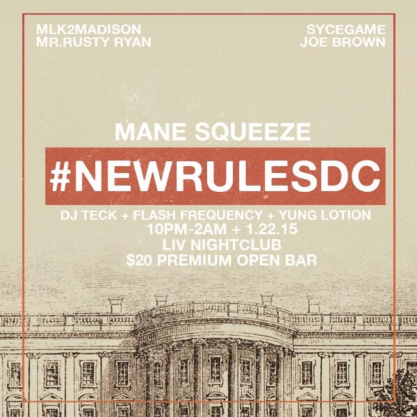 #newrulesDC back again this Thurs! w/ @Mane_Squeeze + @Djteck + @FlashFrequency + @yung_lotion http://t.co/OG3JjVGkYl