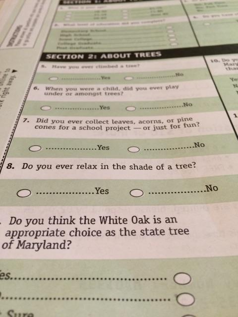 I got a tree survey in the mail and it's my fav. My 2015 resolution is to develop strong opinions on the white oak. http://t.co/xxdoIprCyZ