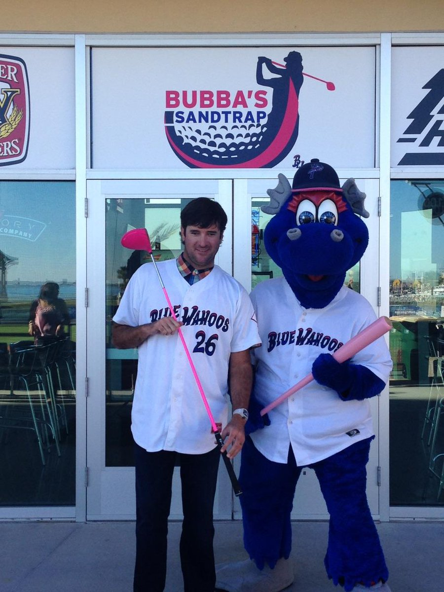 Welcome @bubbawatson to the Blue Wahoos organization, joining @quint_studer and wife, Rishy, as owners!  #WahoosLife http://t.co/LNm4ATQAK8