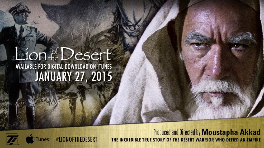 #Lionofthedesert Starring #AnthonyQuinn #OliverReed & #RodSteiger is coming to iTunes in 8 days! #MoustaphaAkkad http://t.co/wWokETfofz