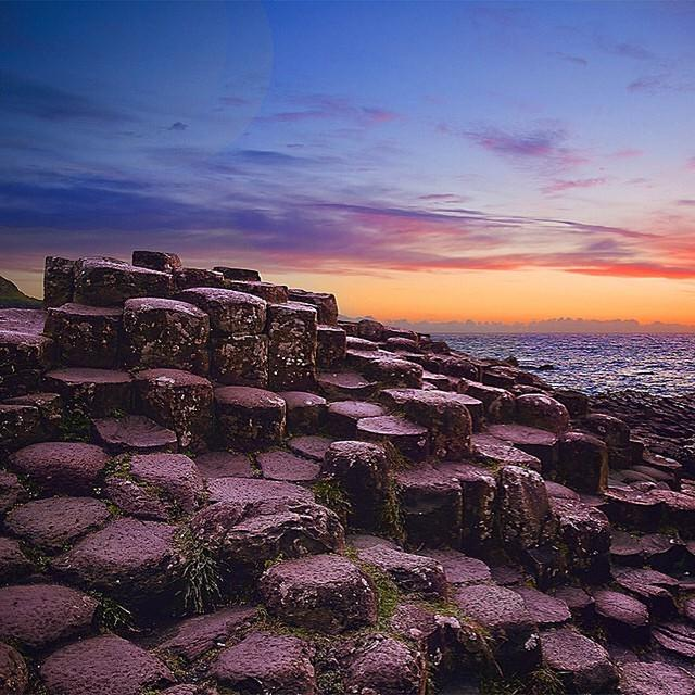 The columnar basalt at Northern Ireland's Giant's Causeway. Photo by MatadorN reader @r...