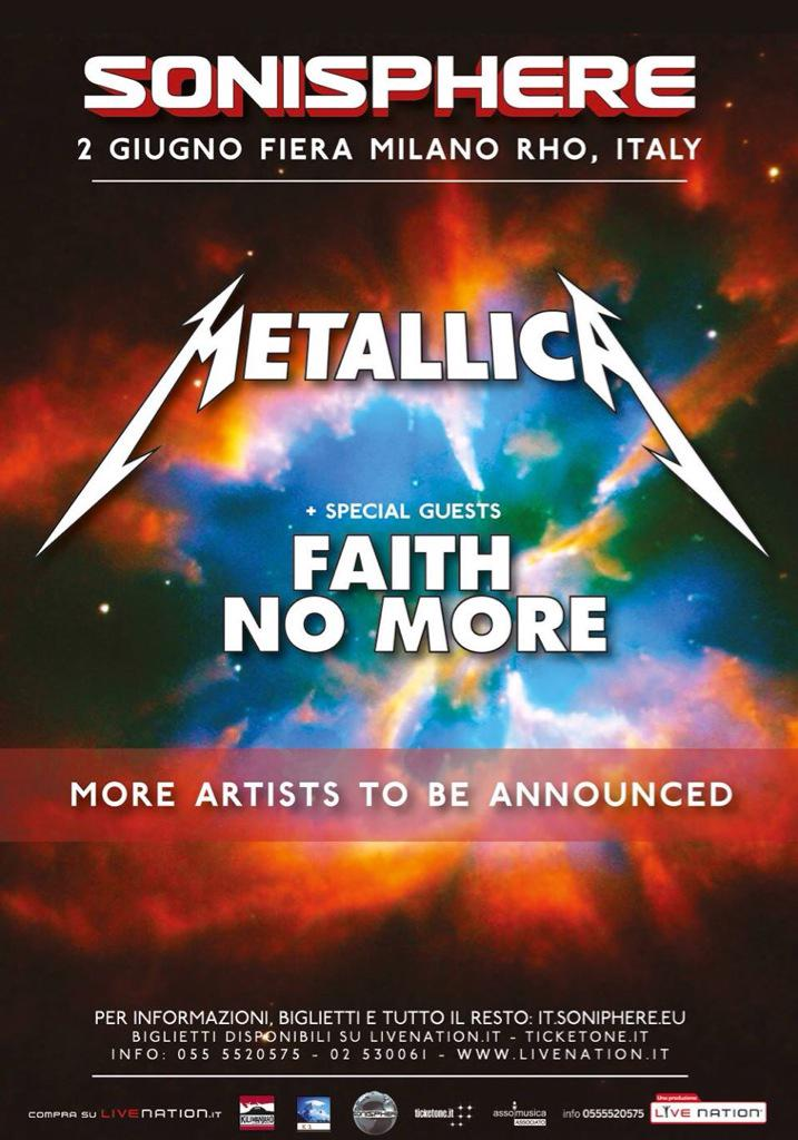 The mighty @Metallica & @FaithNoMore for Sonisphere Italy http://t.co/aBsfDSUnPW