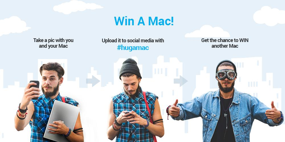 #contest: upload a selfie with your Mac on #hugamac & WIN a brand new MacBook Air. http://t.co/mxAwICIXmy http://t.co/xIlqco0nSe