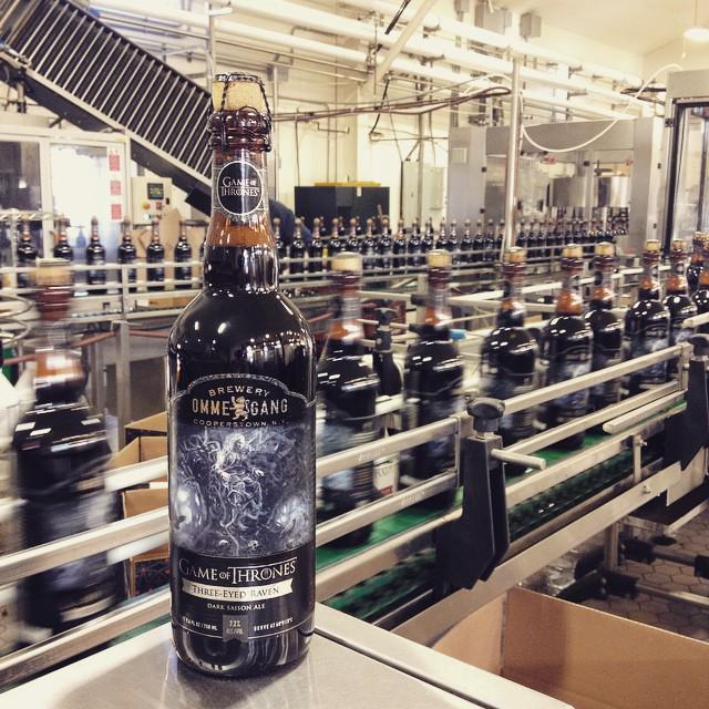 Filling 37K bottles of #ThreeEyedRavenSaison today. Our latest @GameOfThrones-inspired beer hits shelves in April. http://t.co/nMoMojnCoS