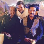 That is Suren with Kamal Hassan and The @superstarrajini what a moment! So proud of him!! :) http://t.co/0tsQLKxFeZ