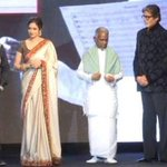 Here's a better pic of the legends @SrBachchan, Rajni sir, Kamalji, @SrideviBKapoor and raja sir #Shamitabh