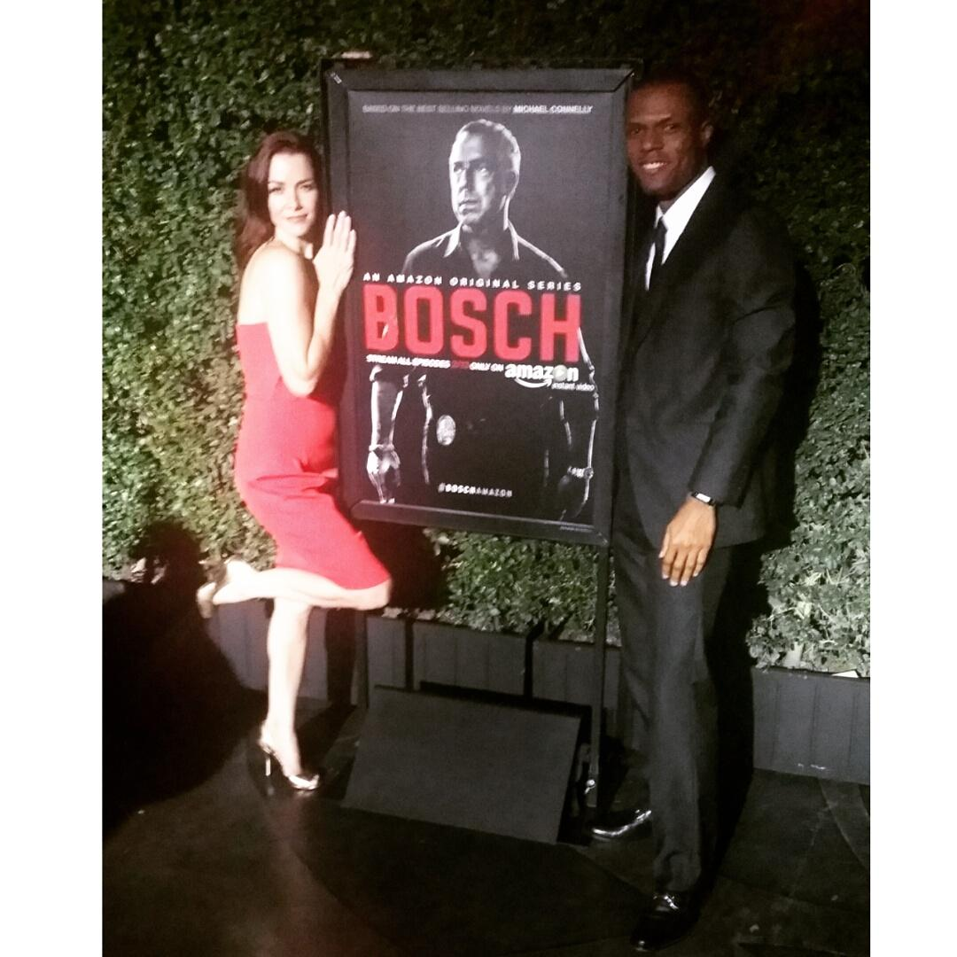 Hanging with the incredible @Wersching at the @BoschAmazon premiere. Saw the first two episodes. Intense!! Watch it!! http://t.co/AGneQzOolr