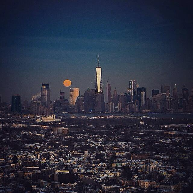 "Aka #SnowMoon ""@Jason_Pollock: Amazing shot of the full moon tonight in NYC."