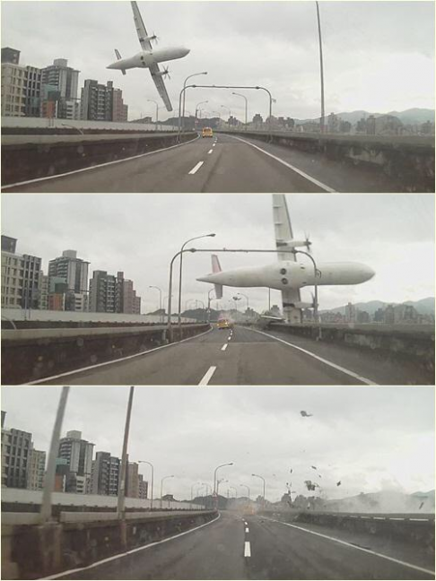 Hard to believe only two people were killed in this plane crash in Taiwan. http://t.co/ykAITaXywi http://t.co/AfFFAuDSSO