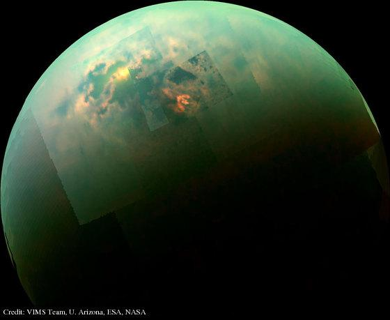 Titan Seas Reflect Sunlight: http://t.co/GM7LbCqiA4 (follow link for explanation) http://t.co/FFNlkyglYN