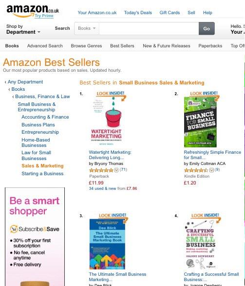 Just spotted @watertightmkg in at No.1 on @amazon - thank you readers :) http://t.co/QDqh0VQQcN
