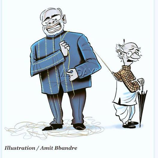 Interesting! @kavita_krishnan: #ModiSuit #rklaxman 'Lucky' and luckless... brilliant cartoon. http://t.co/u5nrOgl3Iz