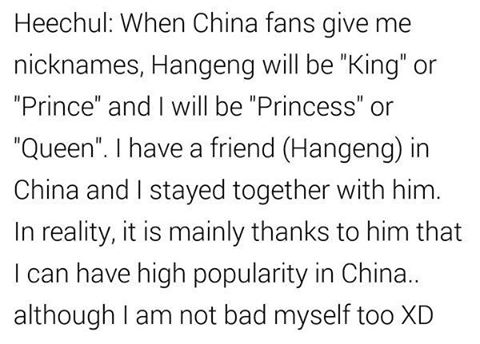 RT @lovesj_siwon: Heechul talking about han Geng in his interview for oh my 思密达: http://t.co/IDsqTDrKIU