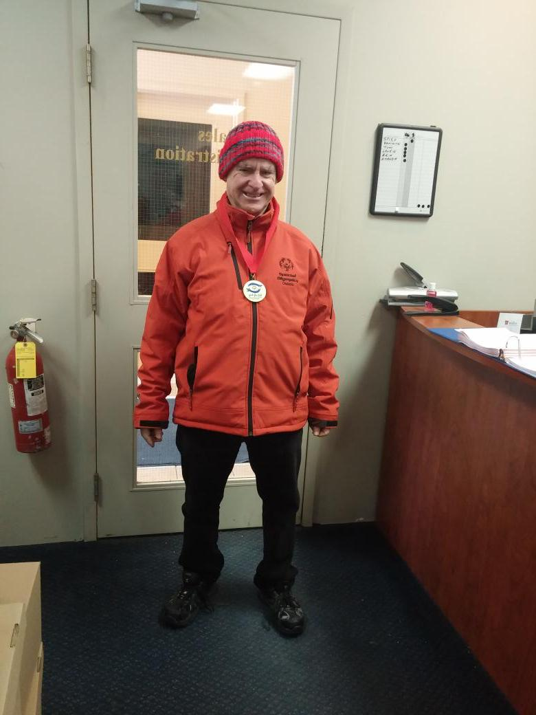 Big congrats to one of our own. This weekend, Jimmy got gold at the #specialolympics winter games in Thunder Bay! http://t.co/uMNr1MNF8B