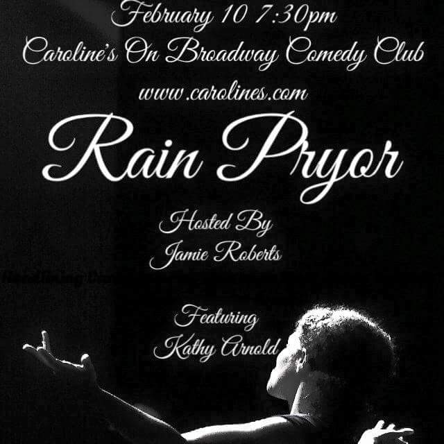 Feb 10th 7:30pm the very funny @RainPryor headlines @CarolinesonBway and I'm hosting http://t.co/8DfsAgIXA3 for tix http://t.co/57Sj3KRn4e