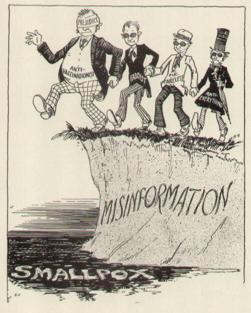Data has no impact on those who fear vaccines as the fear is irrational. It's an old issue. This cartoon from '30s. http://t.co/UJL7By3Rpe