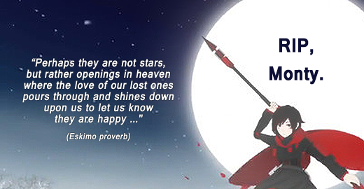 Sad to hear about the loss of a talented young creative professional; RIP Monty Oum. #RWBY http://t.co/ShuHO6Lhsv