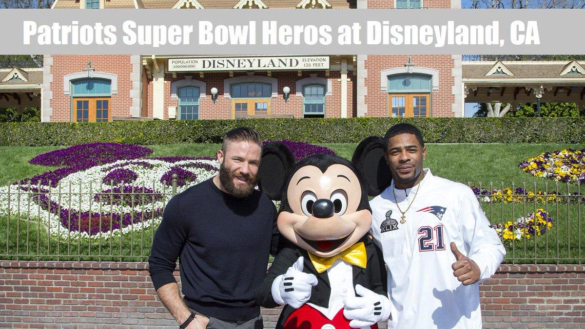 Watch #SuperBowlXLIX #Patriots Malcolm Butler & Julian Edelman Disneyland Victory Parade: http://t.co/mKQ3sx32RV http://t.co/tX59vHM01v