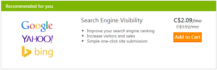 I don't get why people pay so much for SEO services. You can get SEO from GoDaddy for $2.09/m. http://t.co/8bH03J9hnD