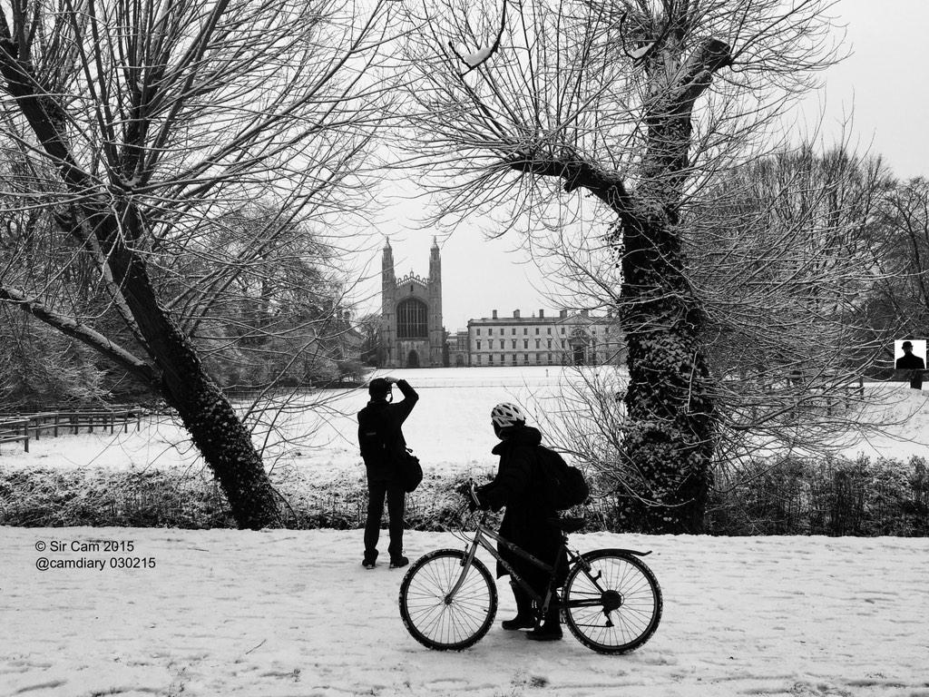 Cambridge, 8.20am, 3 Feb 2015. #snow #uksnow #Kings500 http://t.co/v57OQiKcri