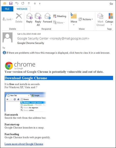 Beware of emails pushing Google Chrome updates! http://t.co/AhJT5sVcDU with @Malwarebytes http://t.co/CUZJqSWkfB