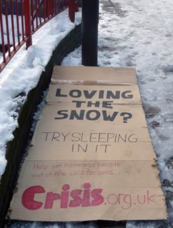 Help get homeless ppl out of the cold for good. Support #NoOneTurnedAway: http://t.co/AZGM2vBo6t #snowday #LondonSnow http://t.co/rGIWIxZmgt