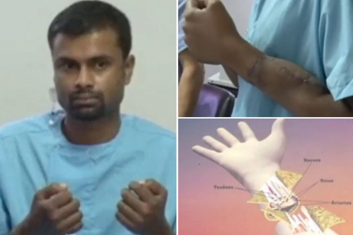 Man who lost both hands after defending woman on a train receives double transplant  http://t.co/hFCaZbg5hi http://t.co/ZGtd9cj1h5