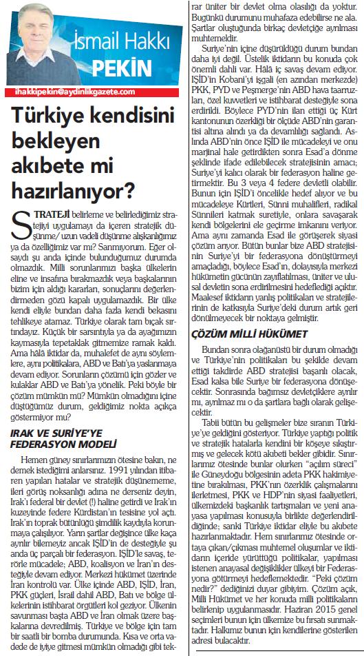"""Talat Paşa Komitesi Genel Başkanı İsmail Hakkı Pekin yazdı """"Türkiye kendisini bekleyen akıbete mi hazırlanıyor?"""" http://t.co/AAdWfkrMj1"""