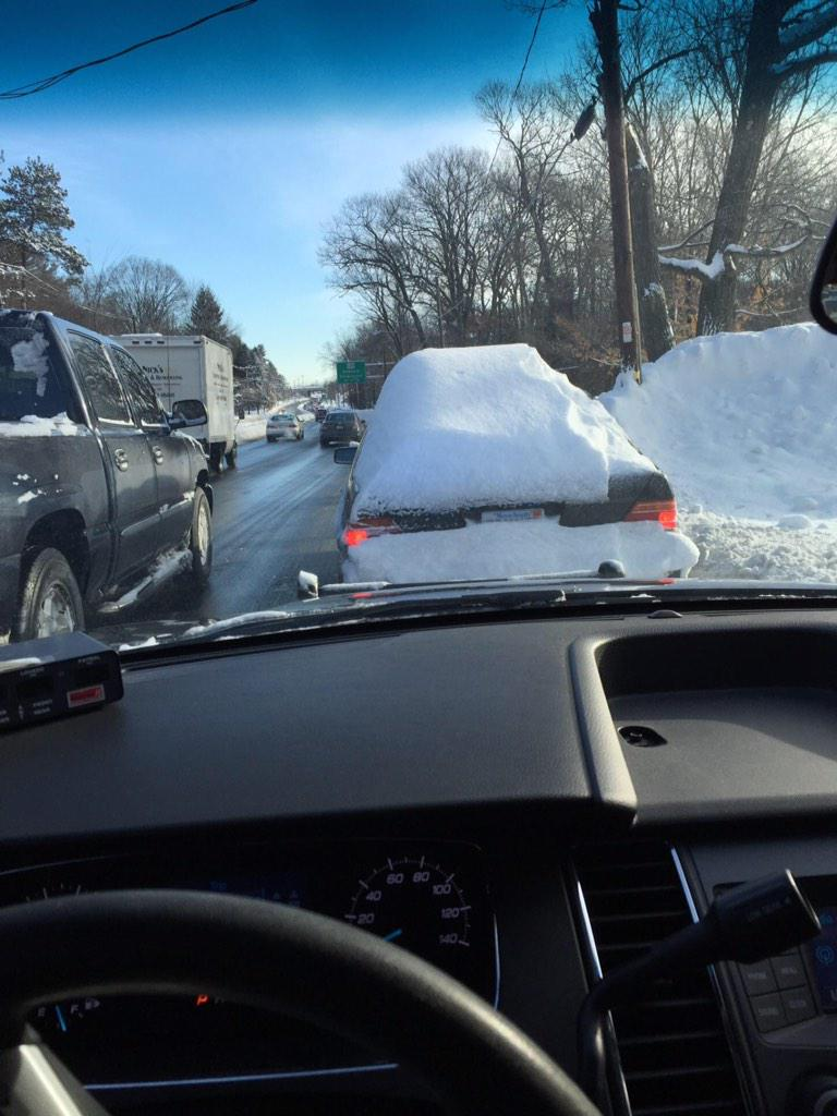 Imagine being behind this car on Rt 9 east? #WPD just stopped this vehicle moments ago. #Cleanoffthesnow. http://t.co/0llGV751Uc