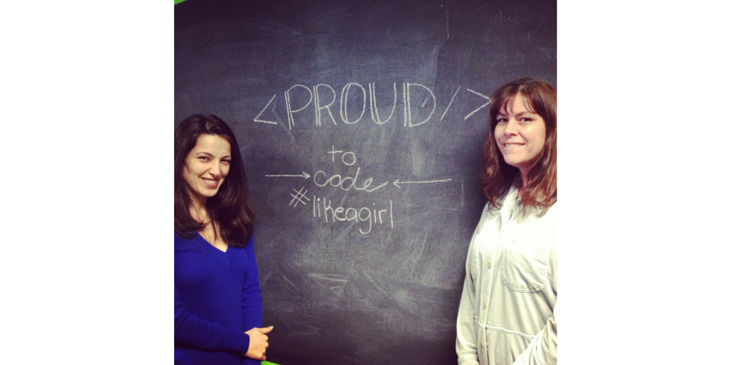 Two of our top developers, Serena and Sheeva, are proud to code #likeagirl. http://t.co/ZnWV3CAeeO