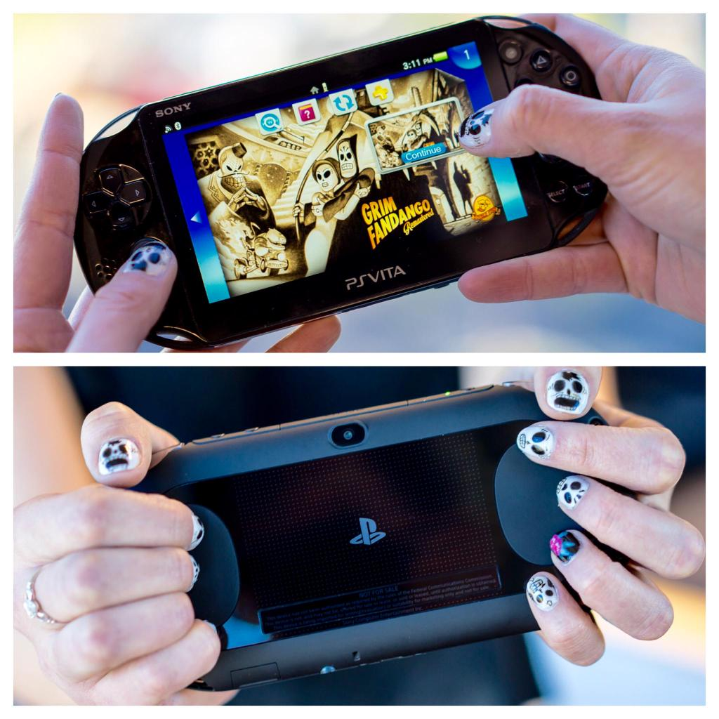 One of the gals at PlayStation did this to her nails. That's dedication. http://t.co/JVcZQGIyrm