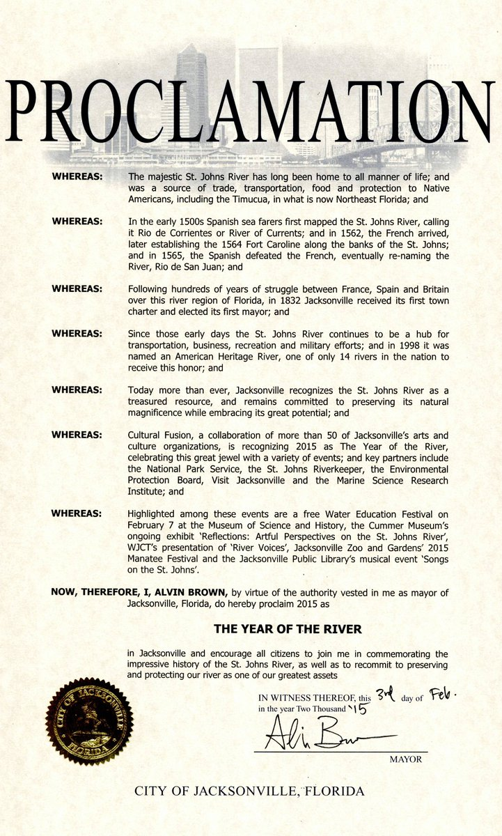 2015 is the Year of the River in Jacksonville!  #MoreArtCulture #ilovejax http://t.co/oy8XfNS4qg