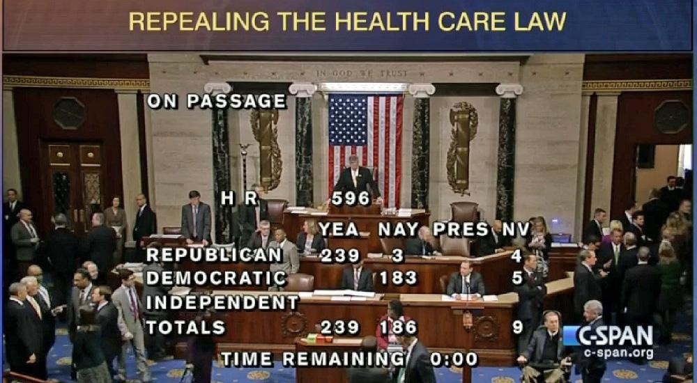Today I voted to fully #RepealObamacare & clear the way for patient-focused solutions. http://t.co/mOBQeS5Y3u http://t.co/AAoLG8XrLo