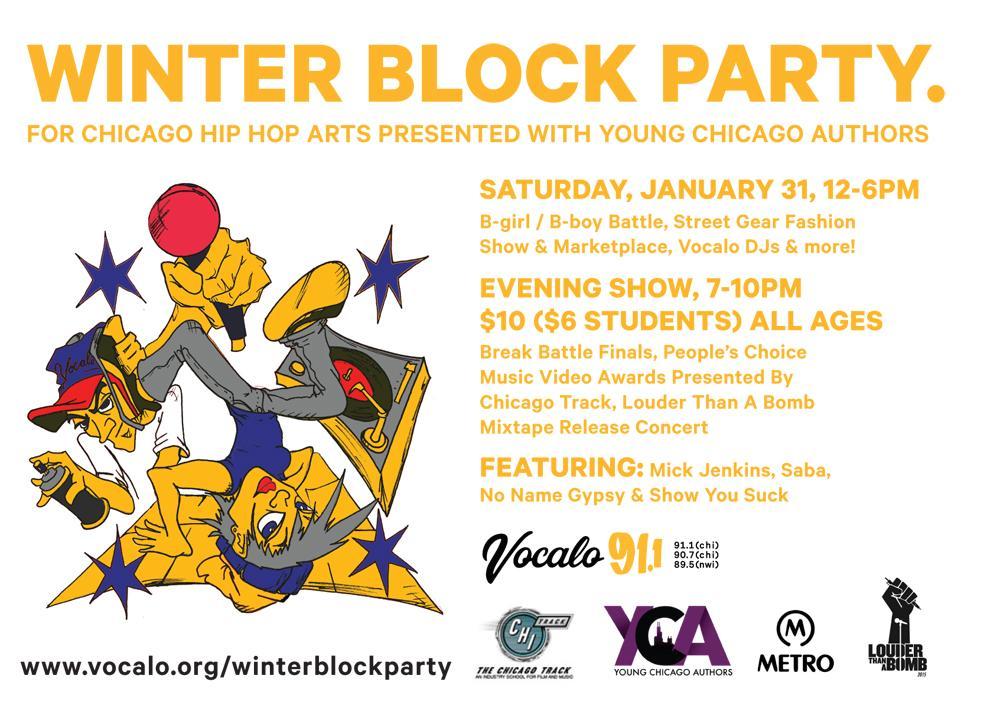 @vocalo #winterblockparty is happening 1/31 at @MetroChicago: http://t.co/fRANMuCaCQ #hiphop #chicago #chihiphop http://t.co/AplqY11GSx