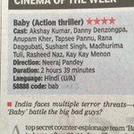 """@Shobu_: TOI 4 stars! #Baby @RanaDaggubati http://t.co/v3mOEIn0ai"""