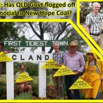 Has the Acland War memorial been flogged off to New Hope Coal? http://t.co/y3CTSb99Q9 #csg #qldpol http://t.co/zYs0zqn7PN