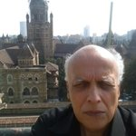 On the terrace of Times of India building in Mumbai.
