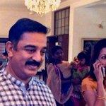 Kamal Haasan attends Trisha's engagement! http://t.co/ZBrVrtuUc1