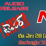 RT @JrNTROFC: #Temper audio launch exclusive live on NTV channel this Tuesday from 07:00 p.m. onwards. @purijagan @tarak9999